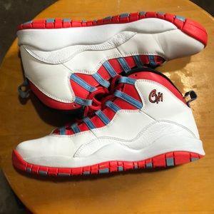 Nike air Jordan 10 X white crimson